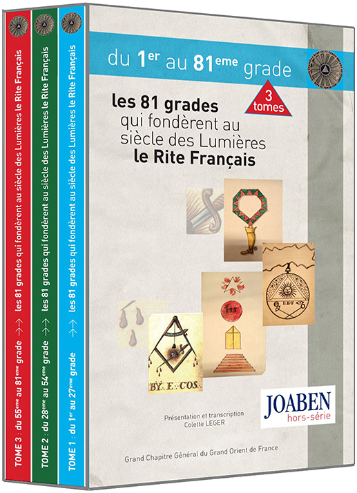 Souscription Coffret : Les 81 grades qui fondèrent au siècle des Lumières le rite Français