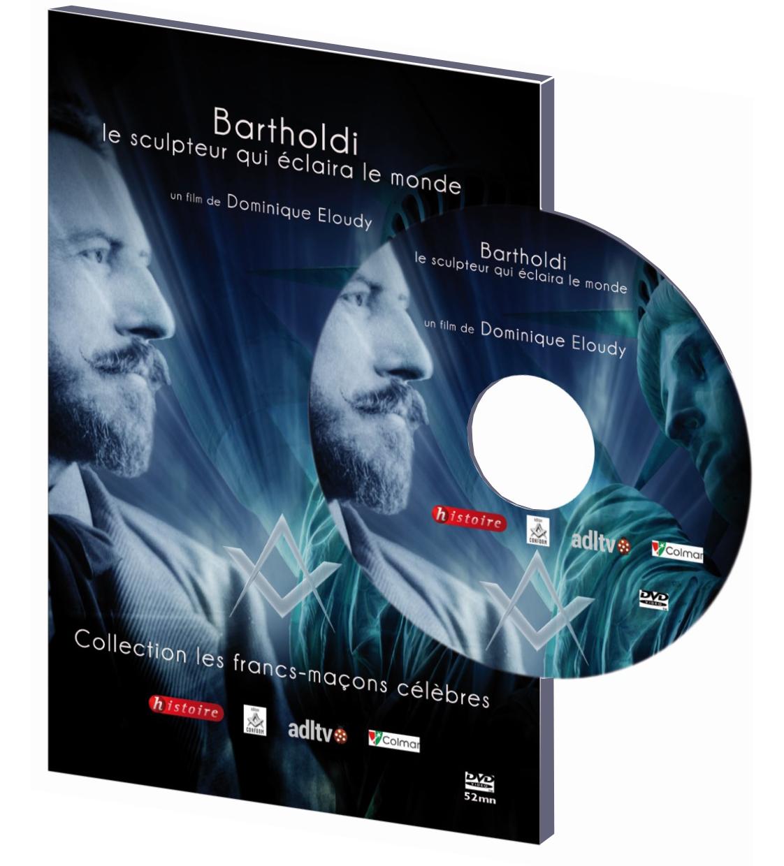 DVD (film de 52mn) : Bartholdi, le sculpteur franc-maçon qui éclaira le monde